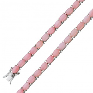Opal Armband Silber 925 pink