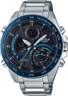 CASIO Herrenuhr Edifice ECB-900DB-1BER Bluetooth Solar Edelstahl