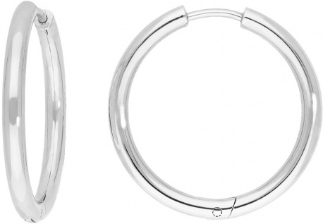 Titania 29169 Klappcreolen Ohrringe Titan 25x2, 4mm