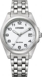Citizen Uhr EO1210-83A ECO-Drive Damen Uhr Edelstahl/Weiß 33, 5mm