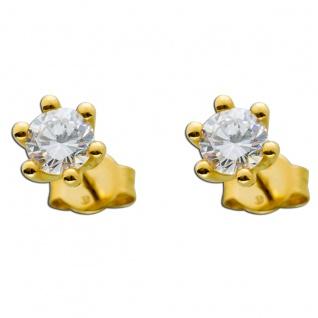 Diamant Ohrringe Gold 585 Brillant Ohrstecker 1, 00ct Solitärohrringe