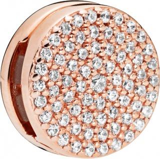 PANDORA REFLEXIONS Clip Charm 787583CZ Dazzling Elegance ROSE Metall