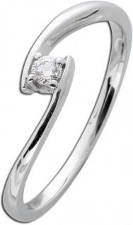 Diamantring Solitär Weißgold 585 Diamant Ring Brillant