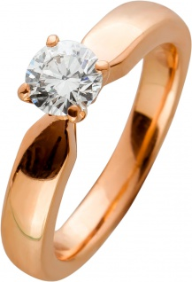 Brillantring Rosegold 750/- Brillant