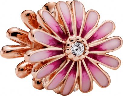 Pandora Garden Charm 788775C01 Pink Daisy Flower Rose Klare Zirkonia