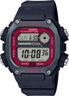 Casio Collection DW-291H-1BVEF Herren Uhr Quarz Schwarz Grau Rot