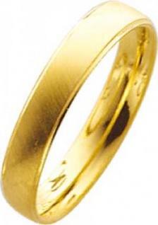 Trauring, Ehering in Gelbgold 18 k 750/- Breite 4, 0mm, Stärke 1, 3mm