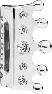 PANDORA REFLEXIONS Clip Charm 797599CZ Crown Krone Sterling Silber