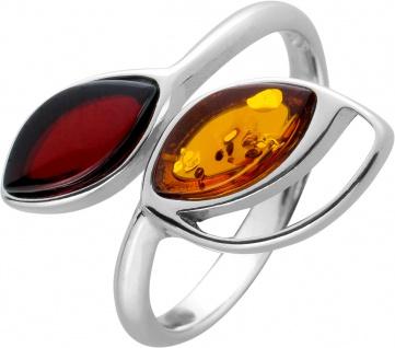Tulpen Bernstein Ring Silber 925 Cherry Bernstein rot braune