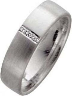 Trauringe Weißgold 585 Diamanten Brillantschliff zus. 0, 03ct W/SI