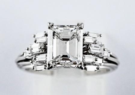 Diamantring Weißgold 750 Diamant Emerald Cut 2, 00 Carat GIA