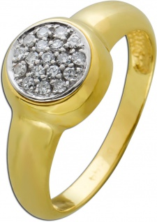 Exclusiver Diamant Ring weißen Diamanten 0, 24 Carat TW/VSI 8/8