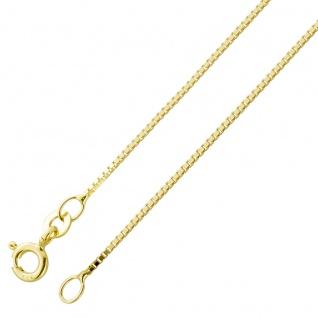 Goldkette Venezianerkette Gelbgold 333 0, 9mm Breit massiv poliert 36cm