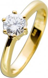 Solitärring Gold 585 Diamant Brillantschliff 0, 72ct River E / VVS1