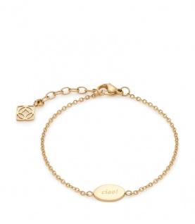 Leonardo Armband Emina CIAO 018209 Edelstahl IP Vergoldet
