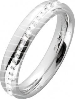 UNO A ERRE Vorsteckring Weißgold 750 Diamant-Brillant 0, 15ct