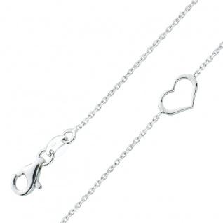 Herz Armband Ankerkette Silber 925 Armband Damenschmuck
