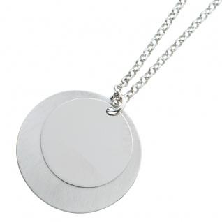 Ankerkette kreisförmigen Plättchen Silber 925 beweglich