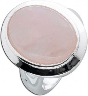 Rosenquarzring Silber 925 rosa Edelstein