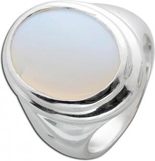 Weiß rosefarbener Mondstein Ring Sterling Silber 925 synthetisch