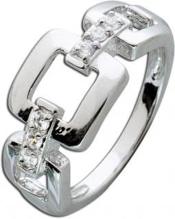 Kettenring weißen Zirkonia Silber 925 Damenring