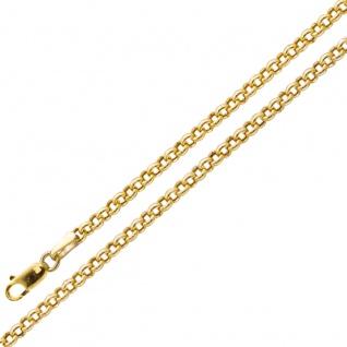 Goldkette Armband Gold Erbskette Gelbgold 375 2, 8mm Breit halbmassiv