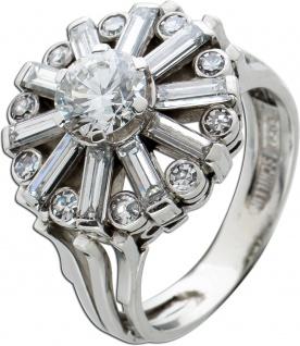 Antiker Diamant Ring Platin 950 Brillant 0, 96ct W/SI2 Diamant