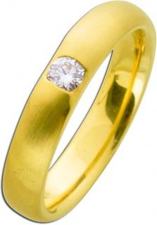 Brillantring Gold 585 Diamant Ring 0, 15ct W/SI Brillant Verlobungsring