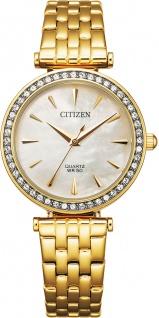 Citizen Uhr ER0212-50Y Damen Quarz Edelstahl/Gold mit Swarovski