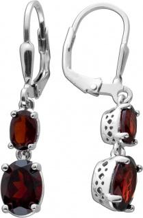 Edelstein Ohrringe roten Granaten Silber 925 Ohrschmuck