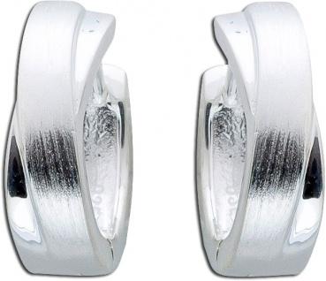 Geschwungene Silbercreolen Klappcreolen Silberohrringe Sterling
