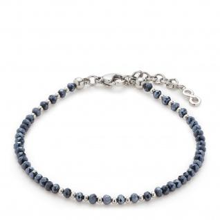 LEONARDO Armband Ira 016920 CIAO 17cm nachtblaue Glasschliffperlen