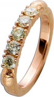 Scarabäus Diamant Ring Rosegold 750 Brillanten ca 0, 70 Carat getönt