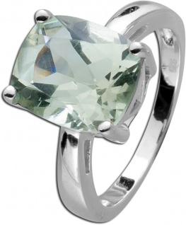 Grüner Amethyst Ring ovaler Edelstein Silber runder grüner Edelstein