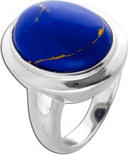 Silberring Ring Silber 925 Edelstein blau Lapislazuli