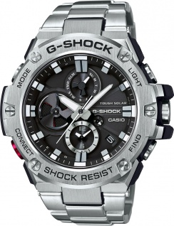 CASIO Herrenuhr GST-B100D-1AER silber Bluetooth Solar Taucher Smart