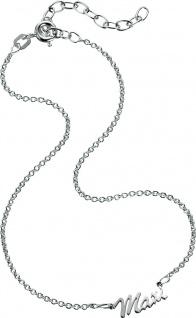 Namensfusßkette Silber Sterlingsilber 925/- Personalisierte Kette