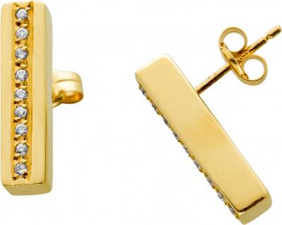 Brillant Ohrstecker weißen Brillanten zus. 0, 18ct TW/SI Gelbgold 585