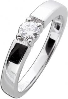 Diamant Brillant Solitär Verlobungs Ring Weißgold 585 Krappenfassung