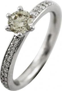 Solitär Ring Brillanten 0, 74ct Weissgold 750 by Saskia Dattner