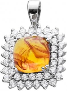 Bernstein Kettenanhänger cognac orange farbener Edelsteinanhänger