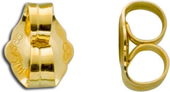 Ohrringe - Ohrmutter Paar 585 Gold hochglanzpoliert Verschluss