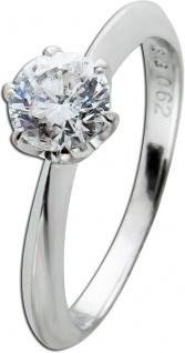 Solitär Ring Weissgold 750 Diamant Brillant 0, 62ct TW/P1