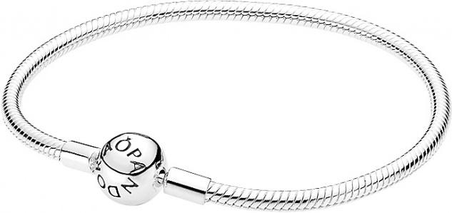 PANDORA Armband 590728 Glatt Kugelverschluss Sterling Silber