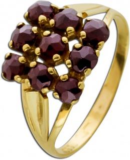 Antiker Edelstein Ring um 1900 böhmischen Granaten rot rund Gelbgold