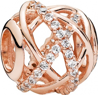 Pandora Charm Rose 781388CZ rose vergoldet Galaxie klare Cubic