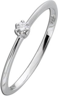 Solitärring Diamant Ring Brillant Weißgold 585 Verlobungsring