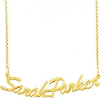 Namenskette Silber vergoldet Sterling Silber 925 personalisierte Kette