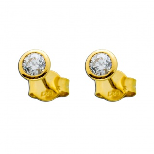 Solitär Ohrringe Diamant Brillant Ohrstecker Gold 58514Karat 0, 50ct