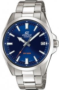 CASIO Uhr EFV-100D-2AVUEF Edifice Classic Edelstahl blaues Zifferblatt